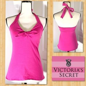 VICTORIA SECRET • Push-Up Halter • Pink Bra Top